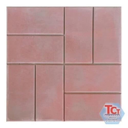 Тротуарная плитка «8 кирпичей гладкая» (400*400*50)
