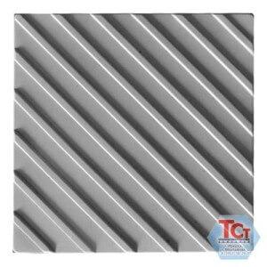 Тротуарная плитка «Тактильная (диагональные рифы)» (500*500*50)